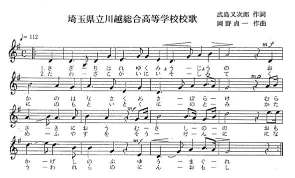 校歌の楽譜