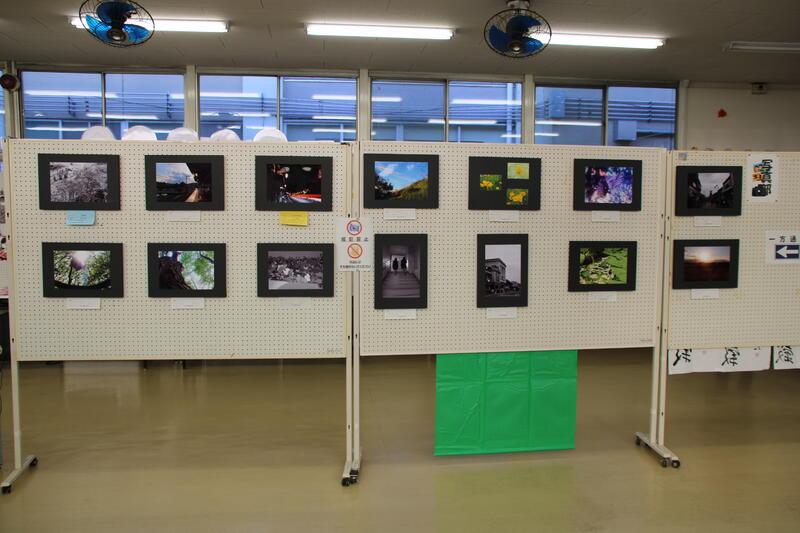 学内文化祭で作品を展示しました